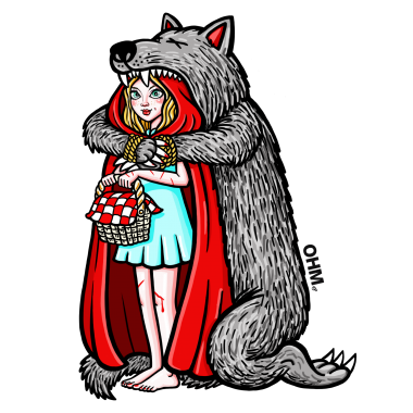 AAX055 OHM LITTLE RED RIDING HOOD transparent